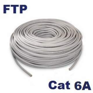 Rollo 50MT Cable FTP Cat6A Interior Gris Furukawa 23AWG Gigalan Augmented CMR 100% Cu