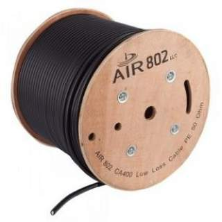 Cable Coaxial LMR400 Carrete 305MT Air802 ca400 Coaxial Negro Unifilar